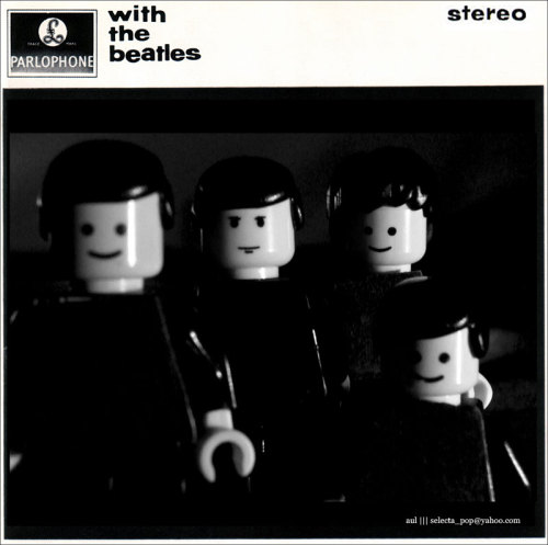 Lego minifig remake: with the beatles album artwork