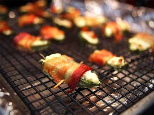 Bacon-Wrapped Jalapeño Poppers A great 4th of July appetizer! photo by fred_zillavia jojochao: seriouseats.com