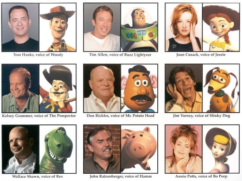 lookoutweekends:  Voices & Characters of Toy Story