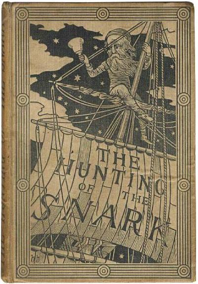 "DODGSON (CHARLES LUTWIDGE) ""Lewis Carroll""The Hunting of the Snark, FIRST EDITION, inscribed on verso of front free endpaper ""Hartington from his sincere admirer Beaconsfield"", another ownership on front pastedown, 9 plates by Henry Holiday, without half-title, publisher's pictorial buff cloth, g.e., bookseller's label ""Rice, Bookseller &c."" inside upper cover, 8vo, Macmillan, 1876  via Bonham's"