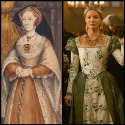 Watercolor  of Jane Seymour - Annabelle Wallis as Jane in The Tudors.