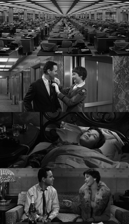 ameliepoulain | oldfilmsflicker | moviesinframes   The Apartment, 1960 (dir. Billy Wilder)By Elgie