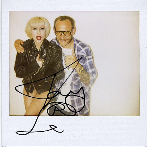 terrysdiary:  Me and Lady Gaga… autographed polaroid for Me.