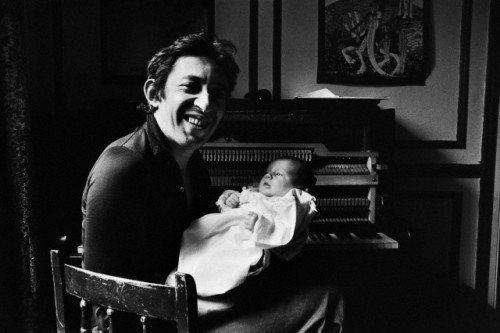 brouillon:  Serge Gainsbourg with Charlotte, 1971
