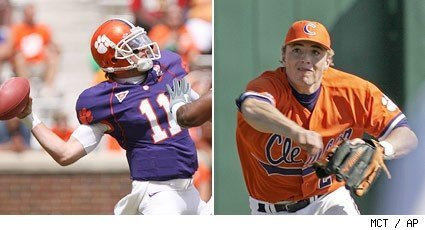 so, clemsux's starting QB also plays baseball for them and recently got drafted 1st round by the rockies. anyways, on ESPN they just said that he can sign with colorado and still play football in the fall. i'm confused, that doesn't seem right?  *sorry, i know no one cares. hell, i hardly do.*
