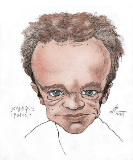 Caricature of the great French actor, Dominique Pinon. Drawn entirely for my own personal amusement.