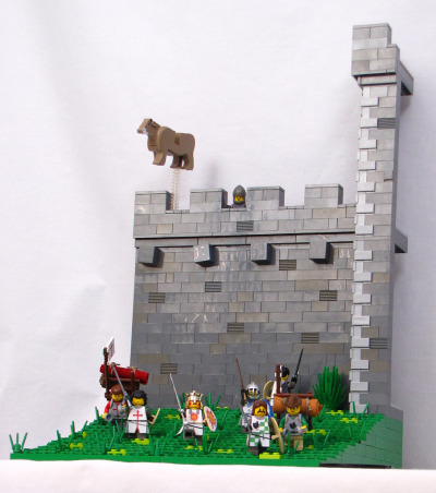 "legoexpress:  njfromnj:  ""The French Taunter""…the Holy Lego Grail    Your mother was a hamster and your father smelt of elderberries."