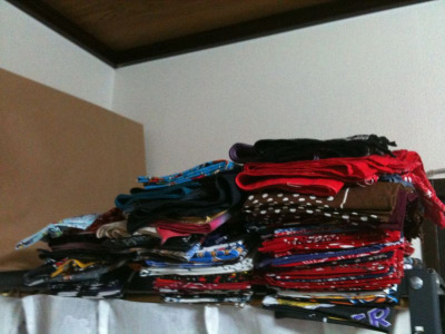 Please tell me!! How should I storage these 100 over bandanas neat…please