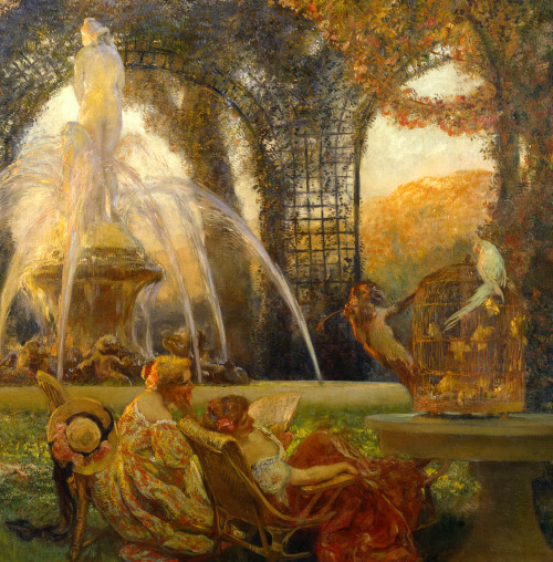 Gaston La Touche The Arbor (detail) 1906