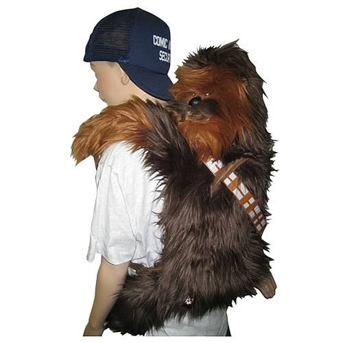 You can now take Chewie with you, wherever you go! Jam your books down his throat, throw him up over your back and quickly be the coolest Star Wars geek in school. Hell yeah! ($39.99 + Shipping)  Star Wars Chewbacca Back Buddy at Entertainment   Earth Via: ianbrooks | gamefreaksnz | Albotas