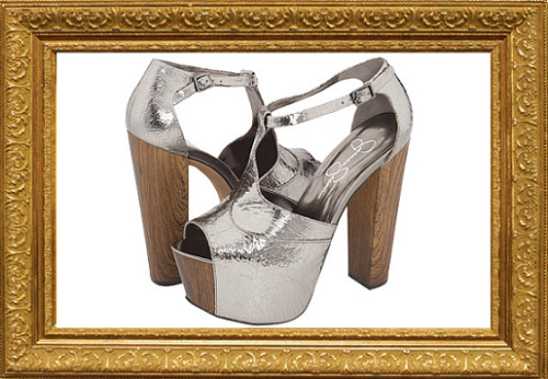 The Jessica Simpson Dany in Pewter. The current loves of my life. I already own these babies in black, but the pewter….. my god. I've had my eye on them for some time, but this particular stunner has not come back in stock. So - I'm eBaying it. In less than 5 hours the auction will be over, and hopefully a bidding war won't begin to the point where I can't afford them. (Well hell, I can't *really* afford them now but I need them in my life!) And what's even more amazing? I own a jacket that matches the shoes. Fuck yes, fashionista territory here I come! P.S. They make me taller than my boyfriend, my mother is going to think I'm crazy, and I'm *definitely* going to need health insurance, because god knows my klutzy ass is going to break something in these, and I'm not talking about only hearts ;) <3