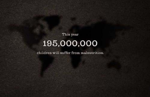 195 million stories of malnutrition. Rewrite the story.  Learn more and sign the petition from Doctors Without Borders.