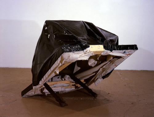 theories-of:  Angela De La Cruz, Still Life (Table), 2000, wood and oil on canvas