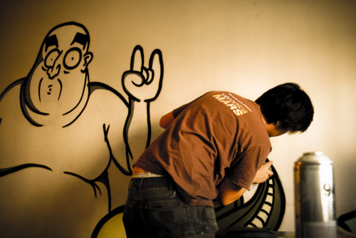 indoor@house - yesterday. photo: dane graffiti: me