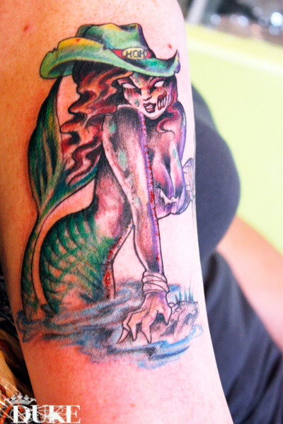 My newest tattoo… zombie mermaid!