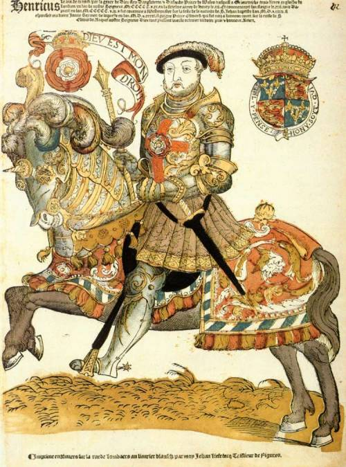 darksilenceinsuburbia:  Henry VIII of England on Horseback by Cornelis Anthonisz Via