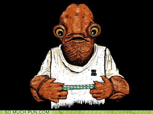 "Admiral Ackbar tries a Chinese finger puzzle and realizes ""It's a trap!"""