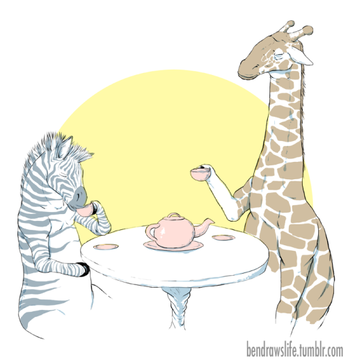 pacifythishungering:  fuckyeahpersonification:  bendrawslife:  Animal Tea Party it's now available for purchasing as t-shirts and stickers on ben's redbubble page,     OMG NO WAYYY. Awesomeness. Me and Desiray!! <33333