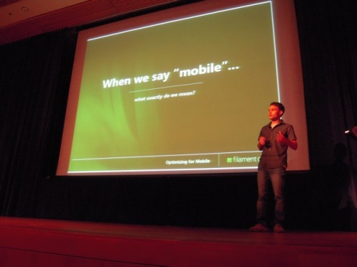 Scott Jehl gives an interesting presentation on Optimizing for Mobile Web Voices That Matter Web Design Conference 2010 - Day 2  He provided tips on how to create good mobile sites. He talked about Progressive Enhancement for mobile web.