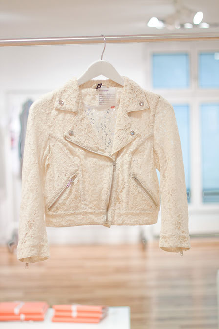 This little lace biker jacket from H & M is [now] MINEZ.