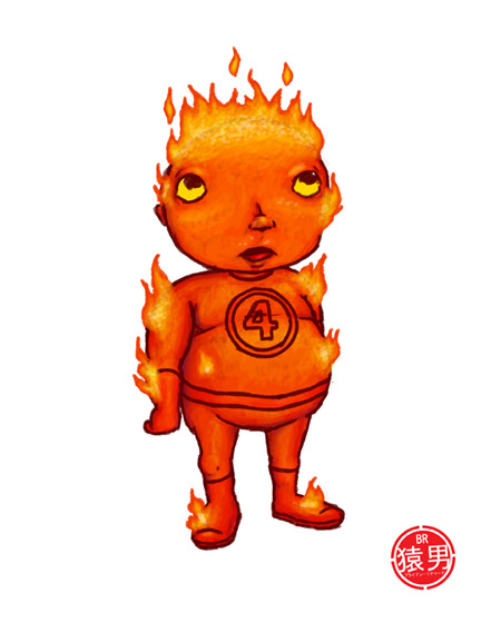 """Flame On!"" (Fat    Kid / Duh  series) ©2010 Brian Richard / MonkeyMan Webpages & Design - monkeymanweb.com"