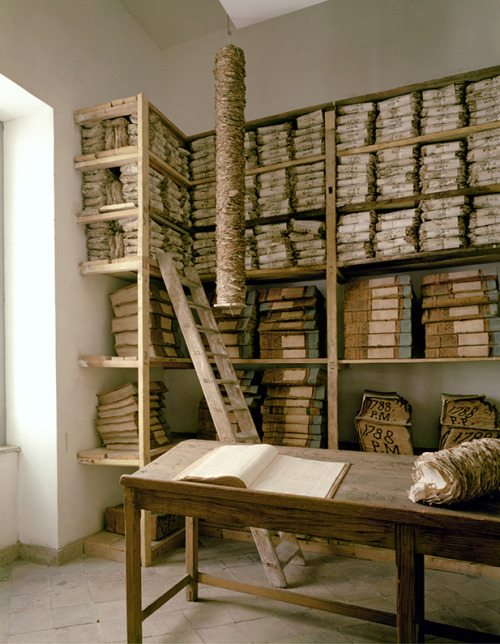 Doug Hall, Archive of the Bank of Naples, 1780s Room, 1997