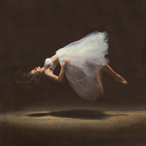 the dream state by brookeshaden (Brooke Shaden) floating and dreaming in translucent tulle