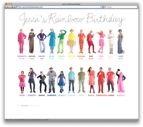Rainbow Birthday. Brilliant.