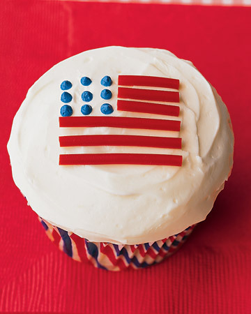 Flag Cupcakes - Red, White, and Blue Desserts - 60 Days of Summer - MarthaStewart.com