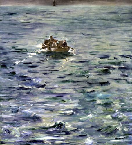 Love the painting of Manet thefriendcatcher:  Edouard Manet The Escape of Rochefort 1881