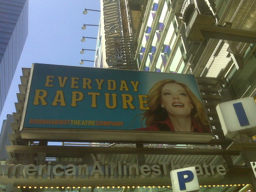 Everyday Rapture on a sunny holiday weekend. Might be the first time I've ever seen a show by myself!