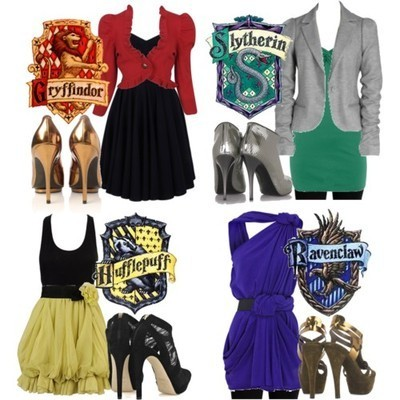 katiepoo:  joanjoann:  (via nikkiyousofine) Just thought I'd say Ravenclaw has the best outfit.   really? I love Hufflepuffs.