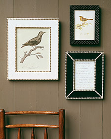 Love these bean frames. Bean Frames and more creative crafts projects, templates, tips, clip-art, patterns, and ideas on marthastewart.com
