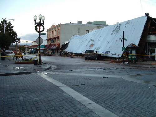 Paso Robles, California - Damage from the San Simeon Earthquake - December 22, 2003