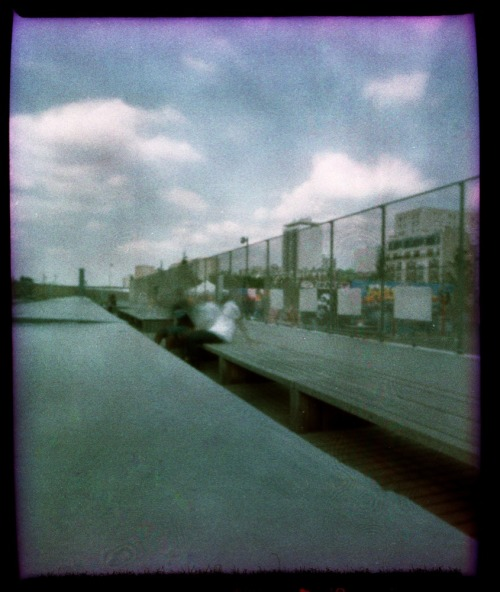 Pinhole Portrait, Paris | Shot with a Zeroimage Pinhole | Cross Processed Fujichrome Provia 100 F  {the exposure time on this image was approximately 4 minutes, around 3pm on a very sunny day}