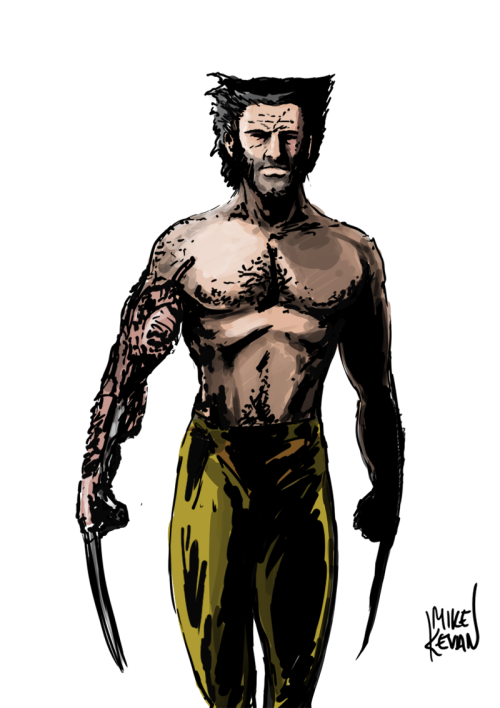 Wolverine with colours.