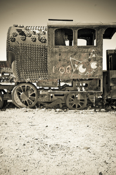 kk+ photo of the day: train cemetery - uyuni - bolivia (2010)
