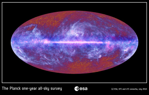 Planck one-year all-sky survey via www.esa.int