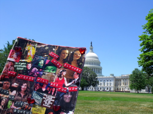 My trip notebook & the Capitol Building. :)