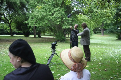 Shooting in Ravenscraig park. A film about the love that Dysart born explorer John McDouall Stuart left behind. Tragic!