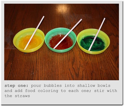 teachpreschool:  Lovely Paper Blog: for the kiddos: bubble art tutorial
