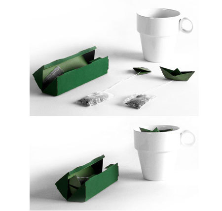 figure tea bags - boat