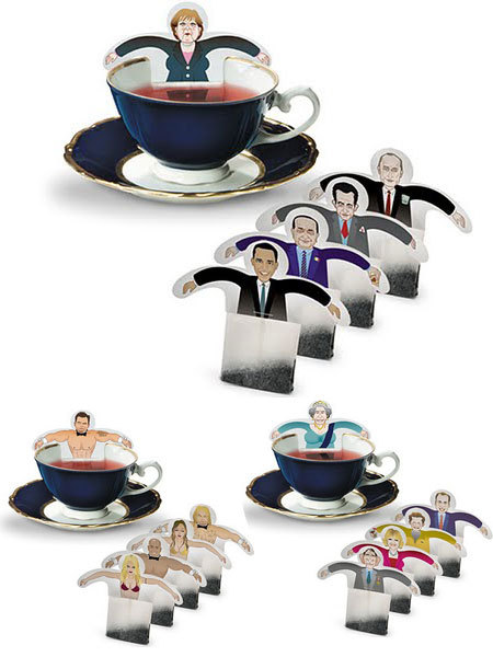 figure tea bags - politicians and others
