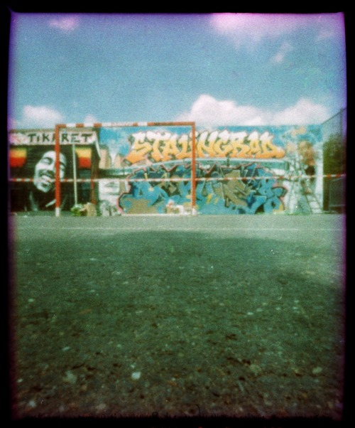 Paris Pinhole | Graffiti Competition @ Stalingrad | Cross Processed Fujichrome Provia 100F {this image was shot with a Zeroimage pinhole, exposure about 5 minutes around 4pm on a sunny day)