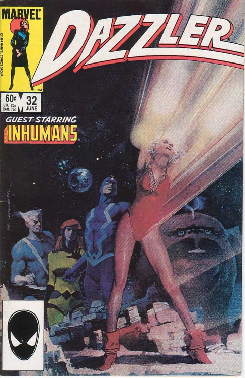 Probably my favourite cover from her solo series, this one. Dazzler #32, 1984