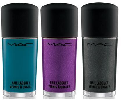 "MAC ""Alice + Olivia"" Collection, out Thursday. Morning.After – Creamy, get-noticed turquoise  So Rich So Pretty – A party-ready purple with a hint of frost  Military – Black matte with silver suede  The turquoise looks nice, and the purple too (although I'm worried about ""a hint of frost""). Mostly though, I can't believe MAC polish is $12 now. Really? Last time I bought one I swear it was $9, and even then it was a little pricy for the quality."