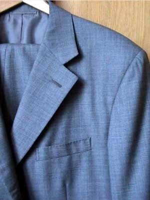 It's On eBay Ralph Lauren Purple Label Suit (Size 44R) I don't usually post stuff like this from eBay, since it tends to be a bit more expensive, tends to have less-nice pictures, and it's less conducive to inspiration than a lot of the vintage stuff I post (which is really my goal - only one person out of our thousands of readers can buy something from an eBay auction).  This suit was too nice to pass up, though.  Make sure your measurements match - those are finished sleeves. £149.99 Buy It Now (about $225)