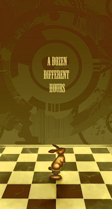 Cover for onidoko's Holmes Big Bang fic, A Dozen Different Hours.