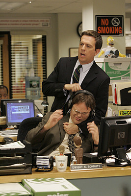 Day #19 Favorite Friendship Dwight and Andy's whole Frenemy is just funny to me, they went from hating each other to Jamming with one another soo that is always a fun aspect to look forward to in the series.