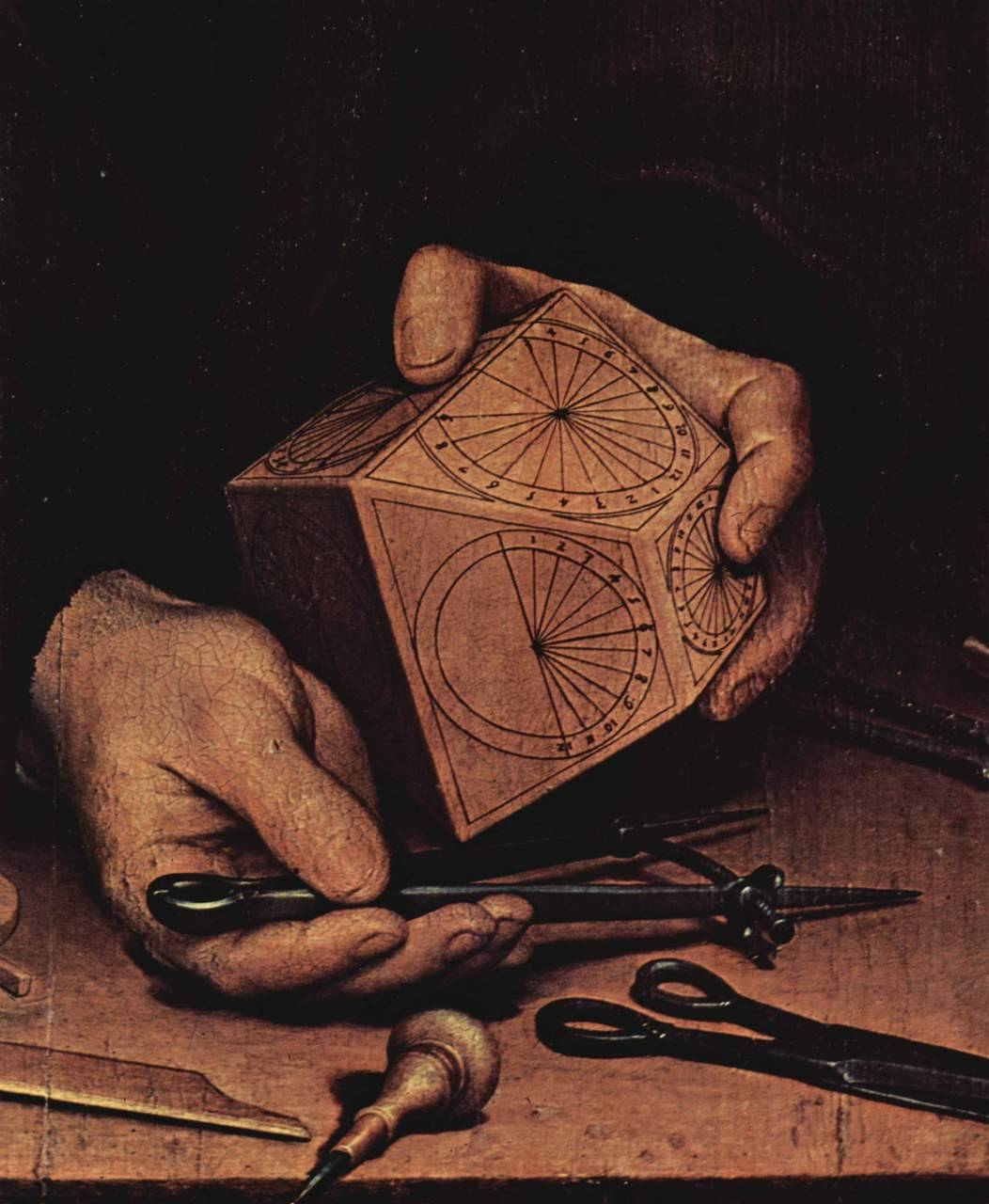 Detail from the Portrait of the Astronomer Nikolaus Kratzer (1528) after Hans Holbein the Younger (via invisiblestories)